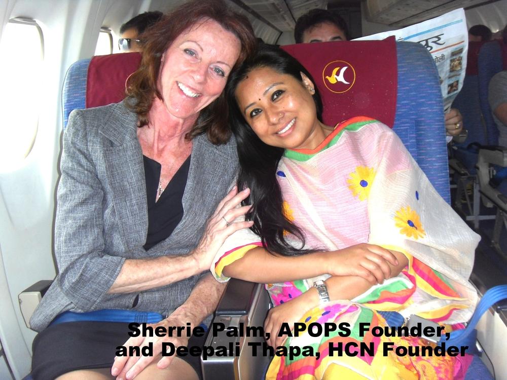Sherrie Palm & HCN Founder Deepali Thapa.