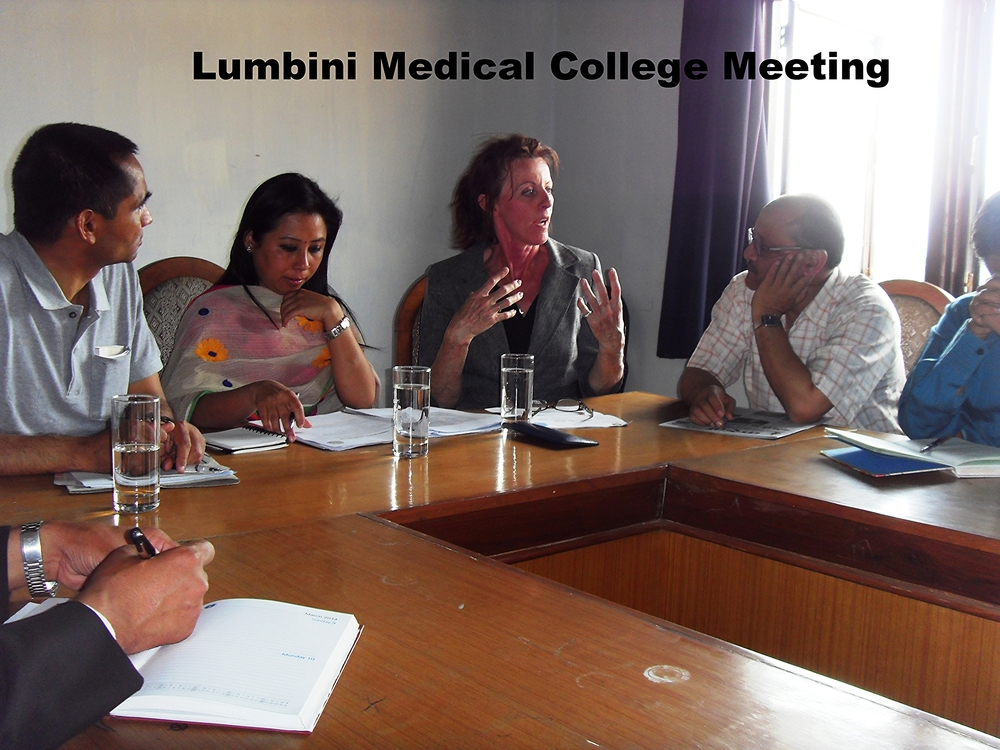 Lumbini Medical College meeting.