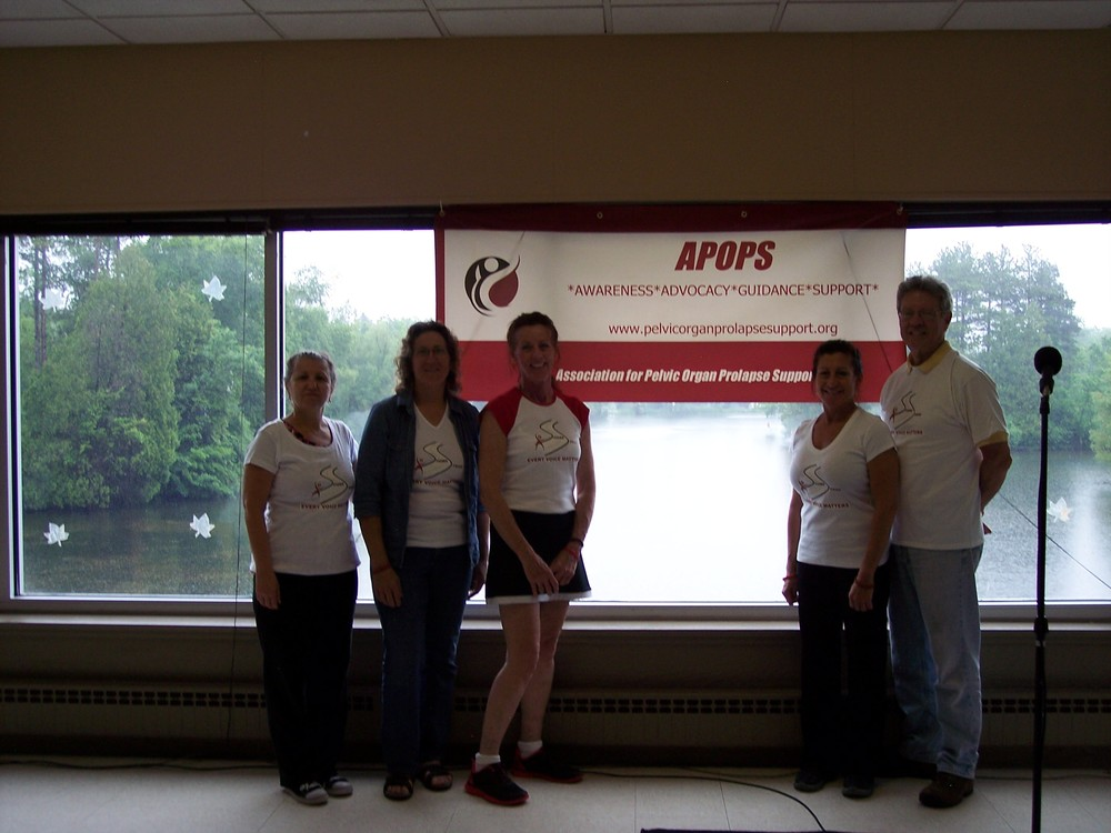 APOPS Board Members Susanne Vella, Wendy Vear-Hanson, APOPS Founder Sherrie Palm, Ruth Campos, and Board President Robert Lawn