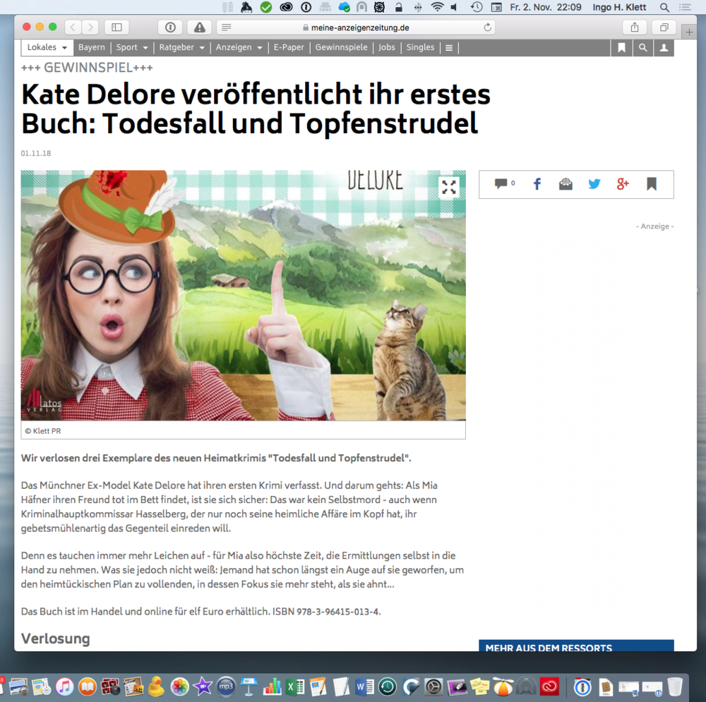 Screenshot: Onlineportal des ©  Intelligenzblatt Dorfen , 2018