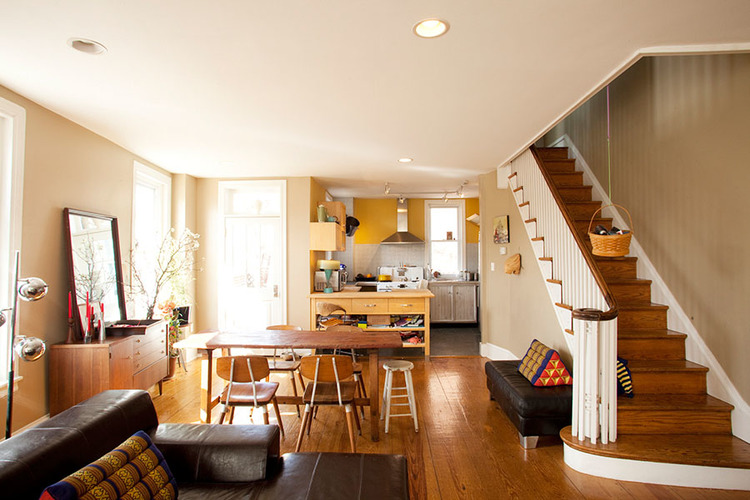 philadelphia row homes architecture and interior design in