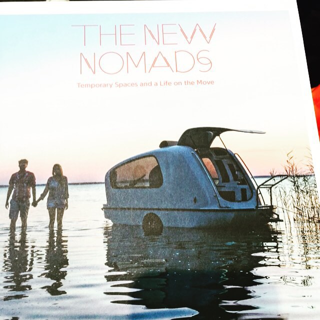 Designs by nomads ... Inspiring book #nomad #travel #smallspacedesign