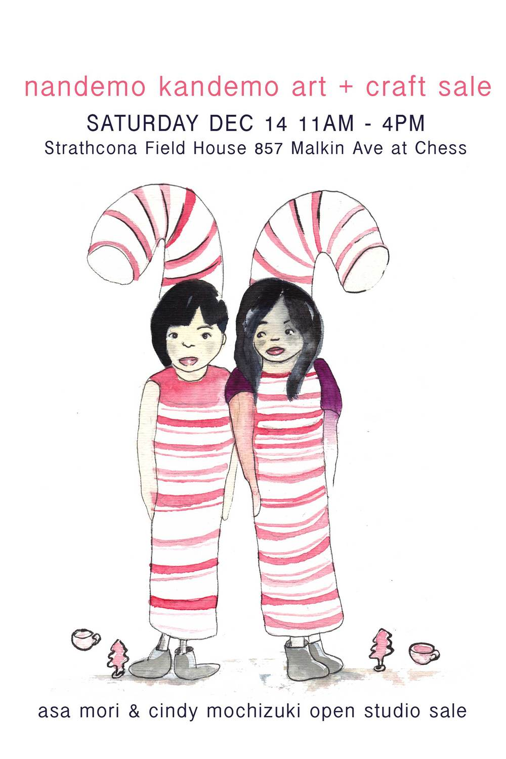 Asa Mori & Cindy Mochizuki studio sale at the Strathcona Field House!
