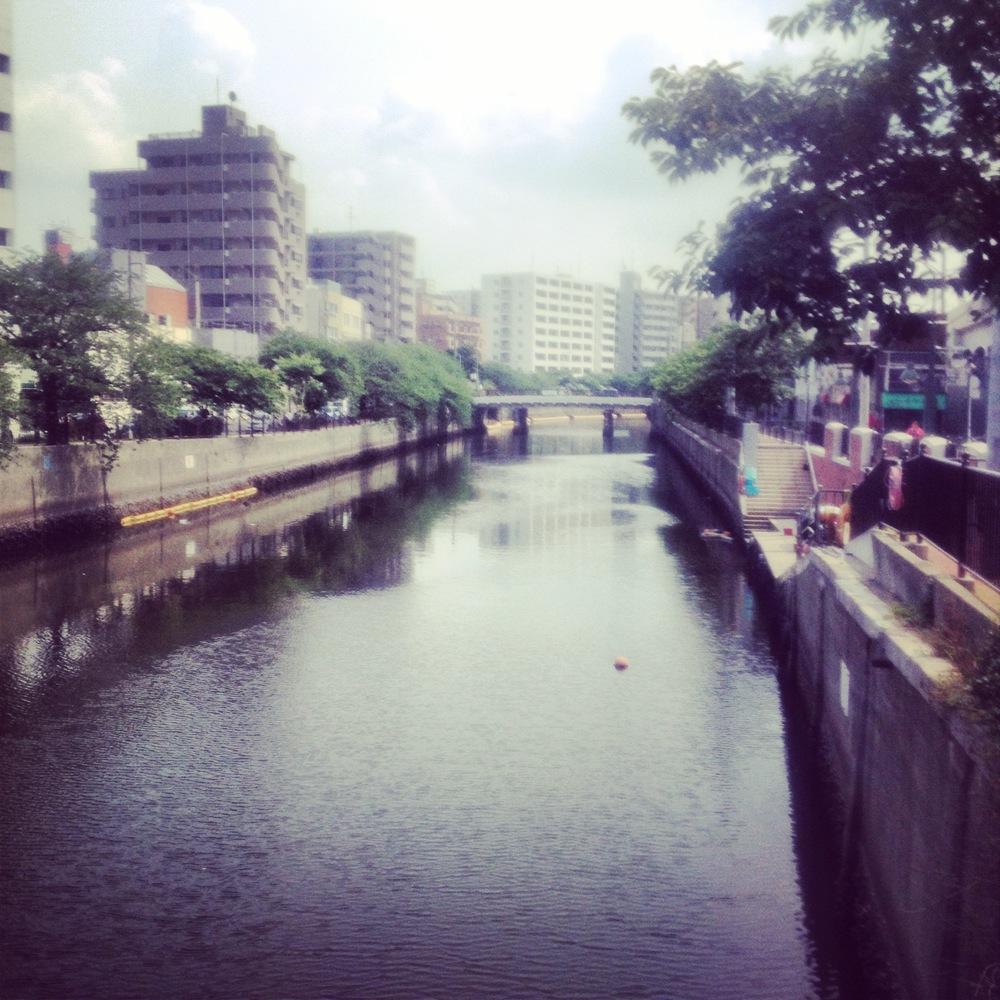 The Ooka River...