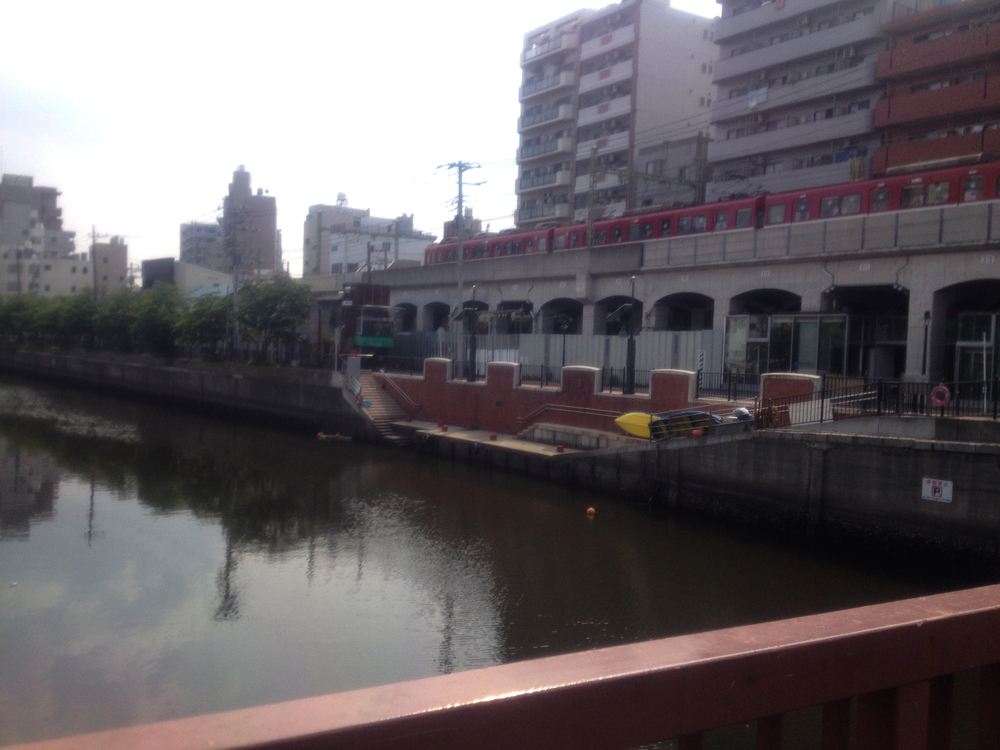 Artist studios and shops under the bridge.