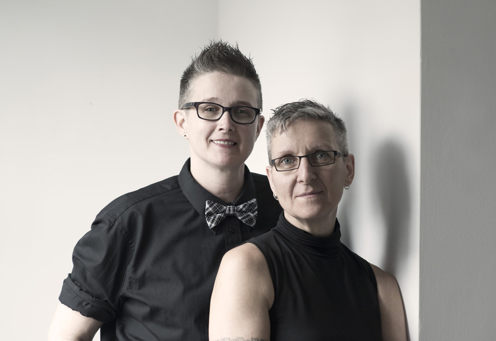 Kelly Kyle (left) and Sonja Scharf. Photo courtesy of Akasha Art Projects.