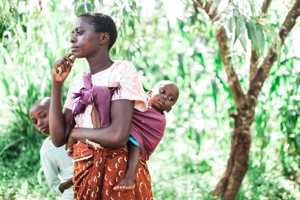 Mama Nuru is one of the many mothers living with HIV.Her husband recently died leaving her widowed with five children.Photo by aimi duong.