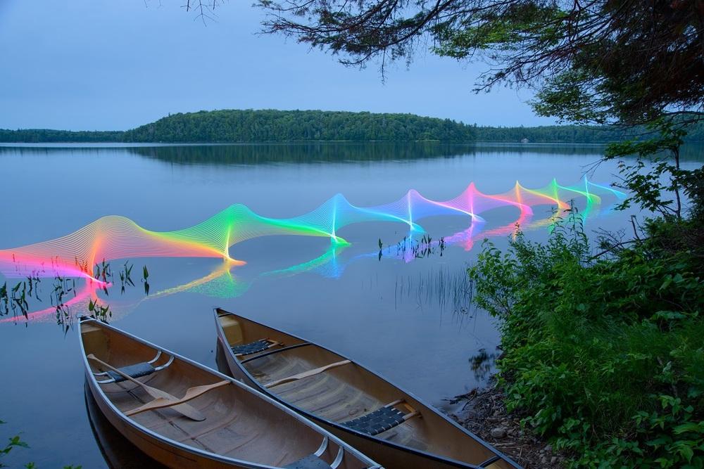 Canoe on Rosebary Lake. PHOTO: Stephen Orlando