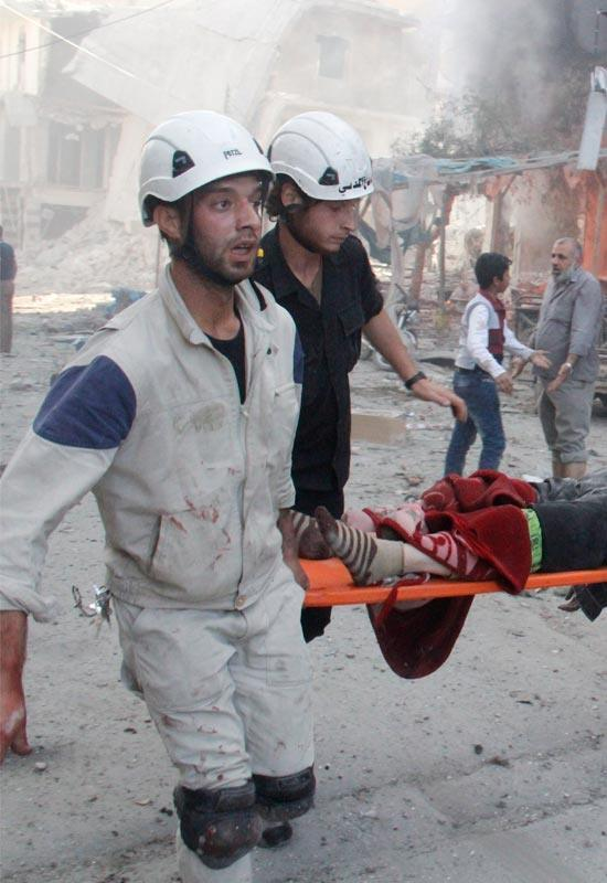 Title: the most dangerous place in the world | Image Credit: The White Helmets