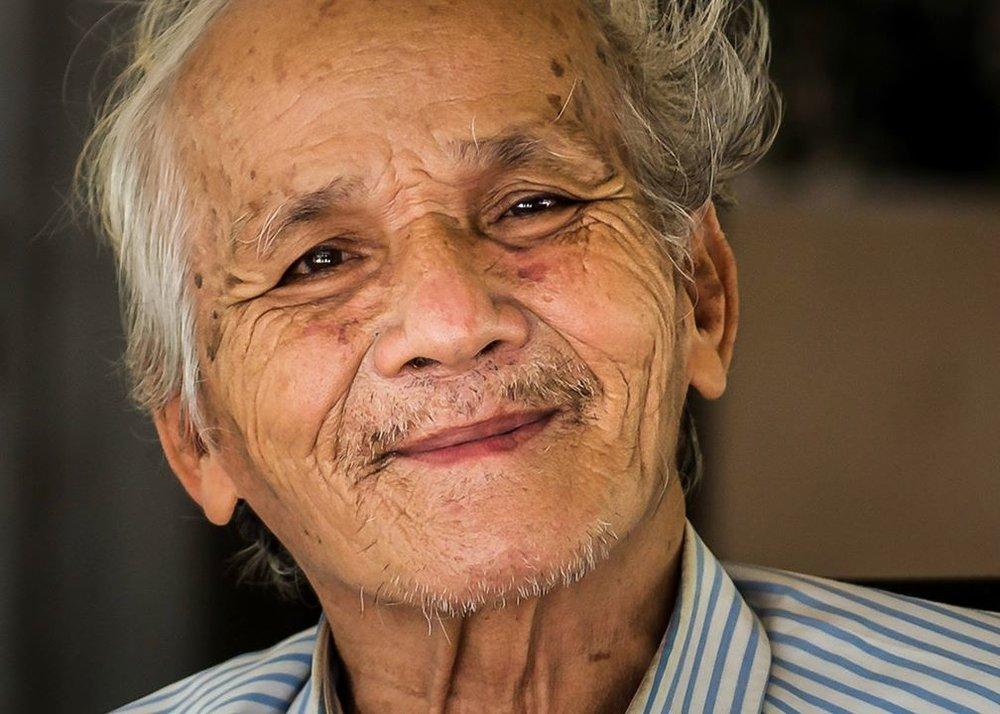 Bou Meng, a survivor from the Khmer Rouge Prison, S-21. PHOTO: Anita Bonnarens