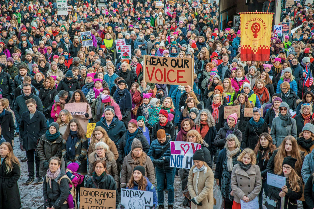 Oslo Women's March. PHOTO BY NTB SCANPIX/REUTEURS.