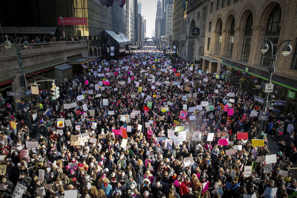 New York City Women's March. PHOTO BY NICOLE CRAINE FOR THE NEW YORK TIMES.