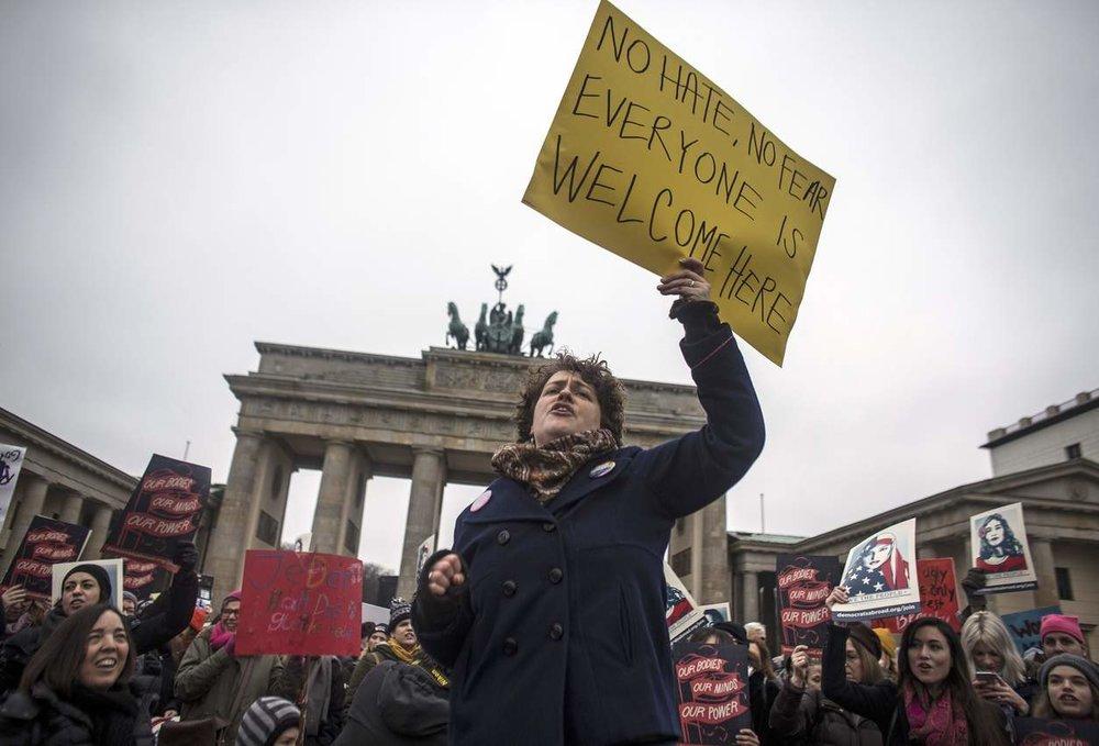 Berlin Women's March. PHOTO BY OLIVER WELKEN/EUROPEAN PRESS PHOTO AGENCY.