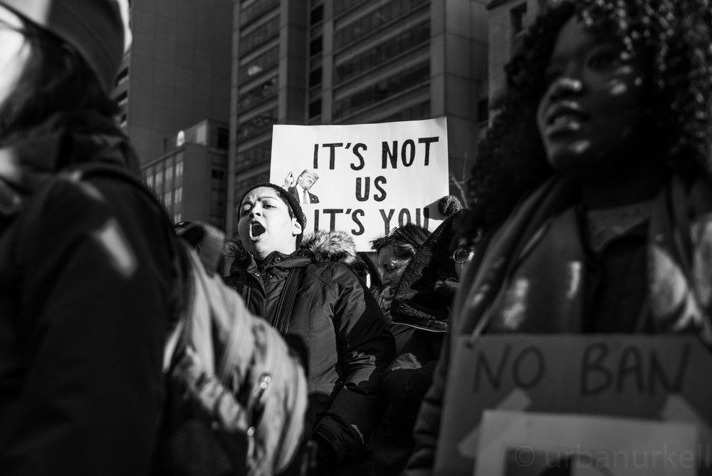 Trump Ban protest outside the US Consulate. Toronto. /Image:Tagwa Moyo