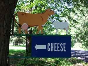 Creamery sign.