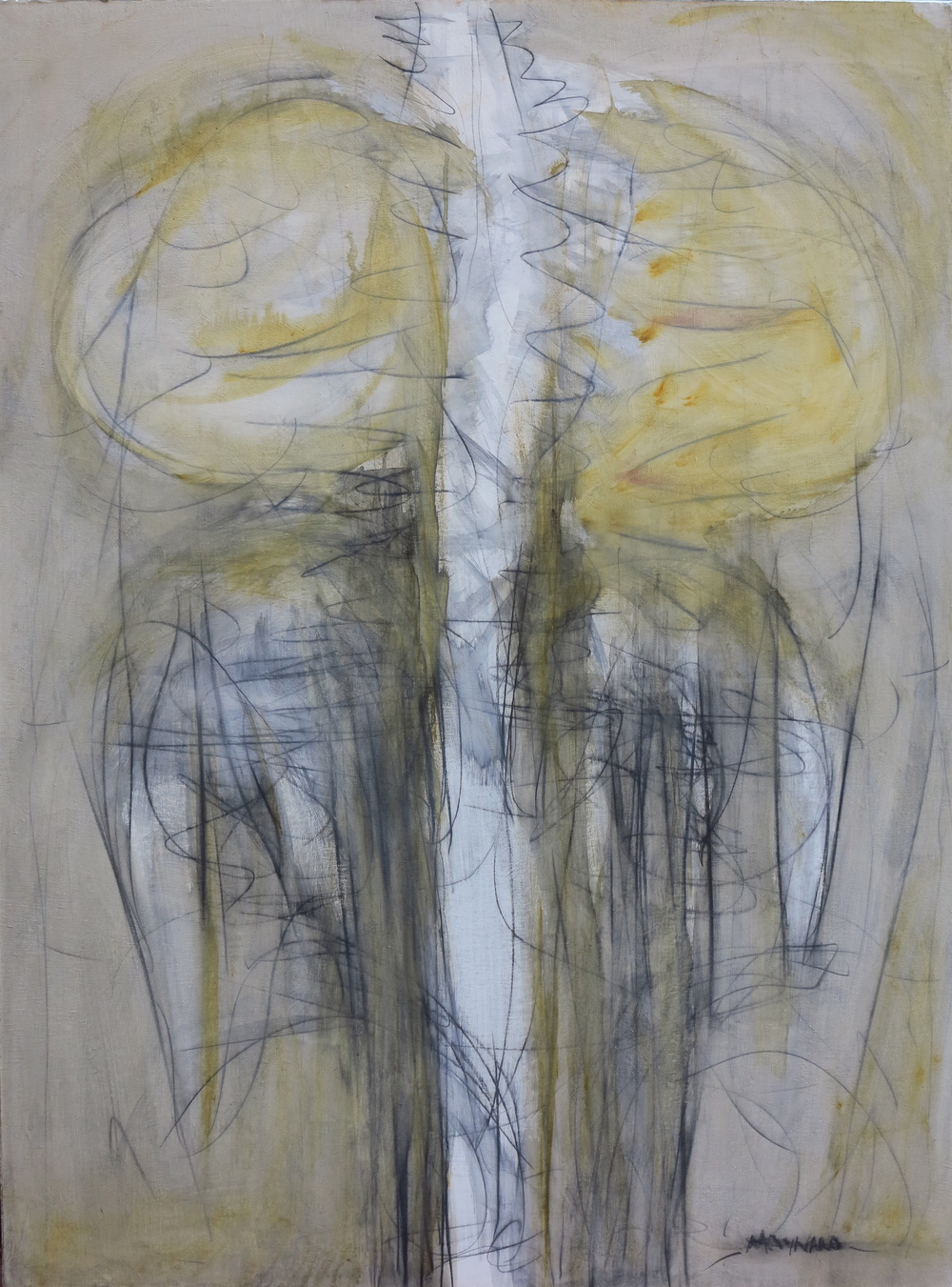 Oil and graphite on canvas - size 100 x 130 cm / 39 x 51 inches