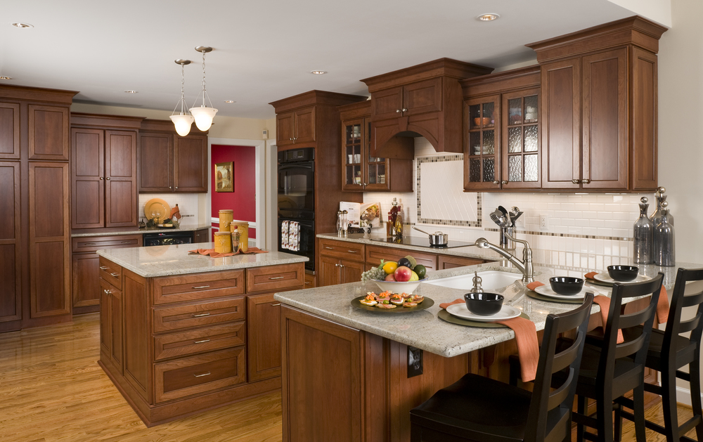 Stained Custom Cabinet Kitchen Remodel