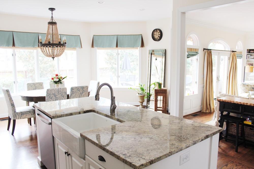 Bright Virginia Beach Kitchen Remodel - Island View
