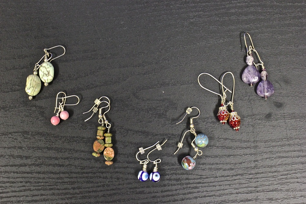 Handmade Earrings, Barrettes, and Coasters from Cuzu's Creations