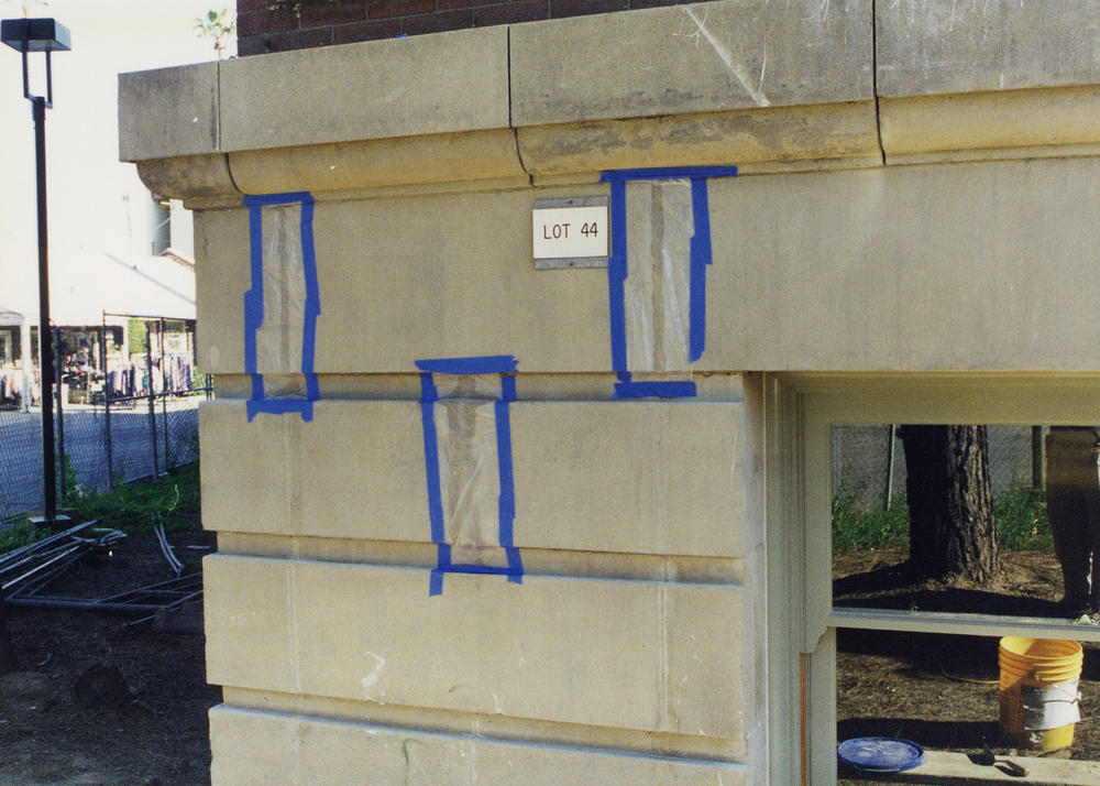 Exterior precast concrete showing repairs in progress.jpg