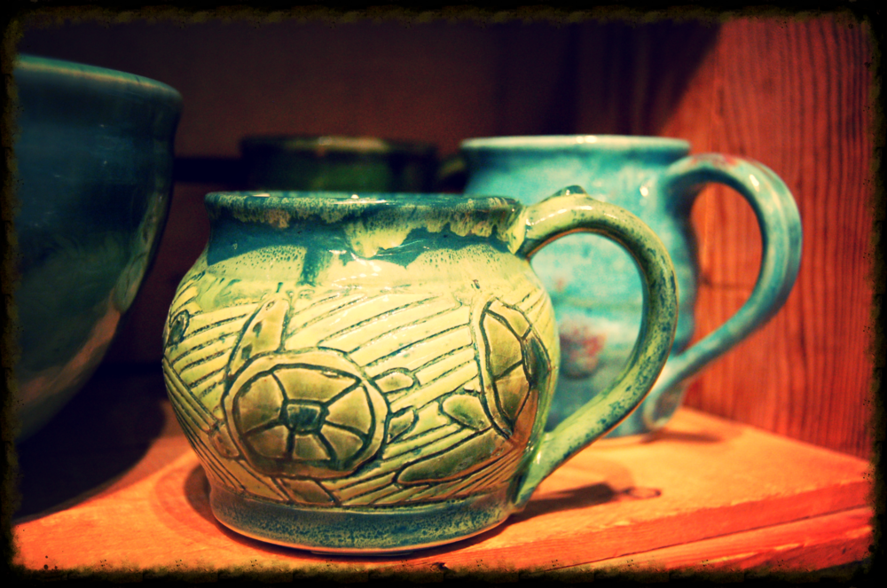 Locally made pottery on consignment by Debbie McDowell