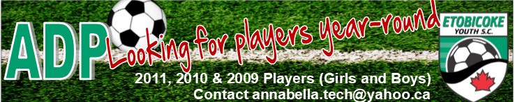 Technical Staff currently looking for players born in 2010 and 2011 for our Fall/Winter Advanced Development Program (ADP)program.