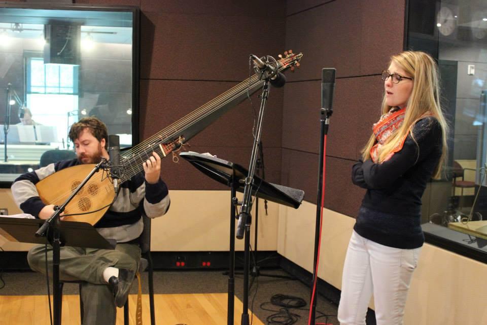 At the John Clark Performance Studio at WDAV. Photo taken by Kali Blevins.