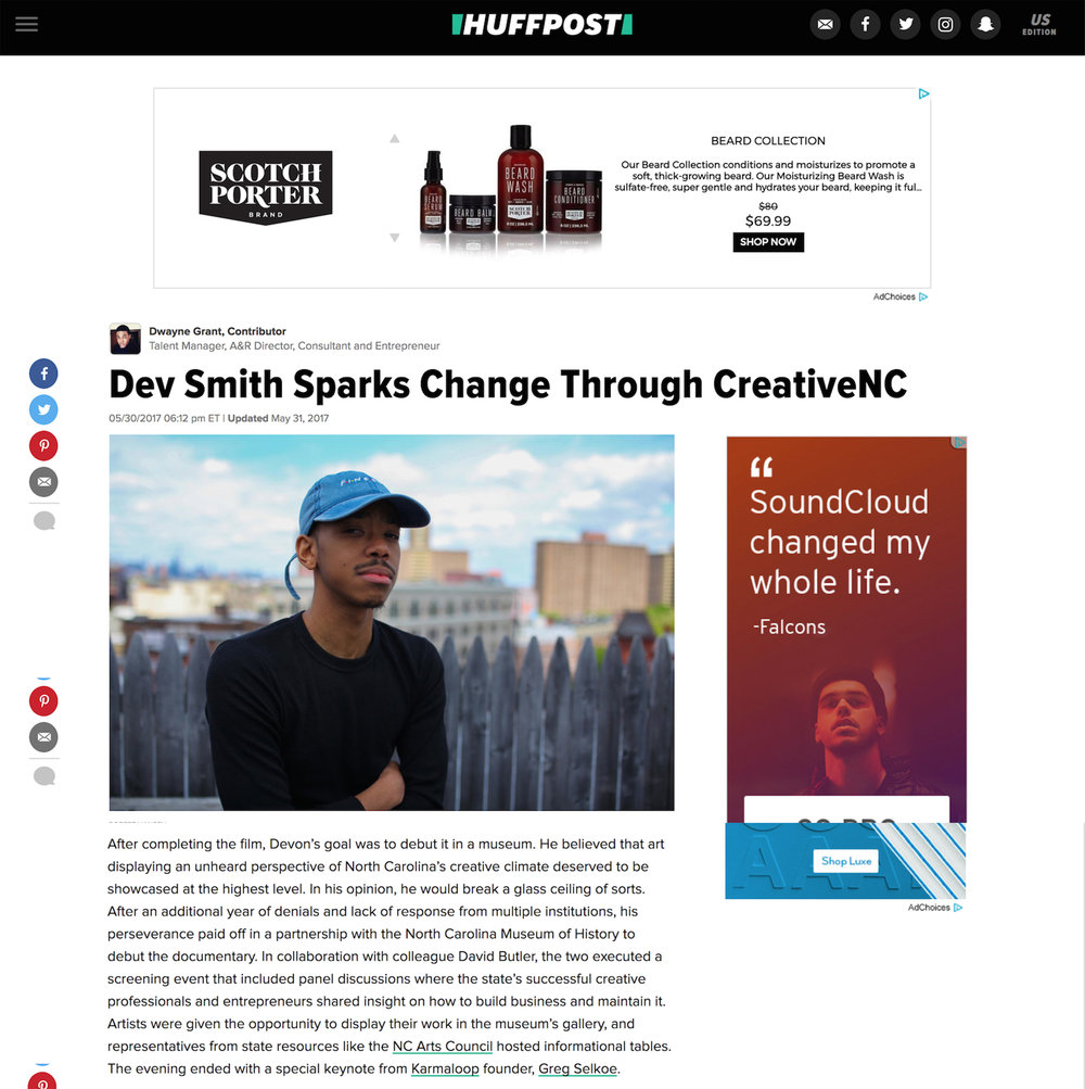 CreativeNC in Huffington Post -