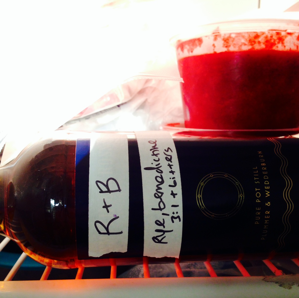 R&B in the freezer, where it belongs.
