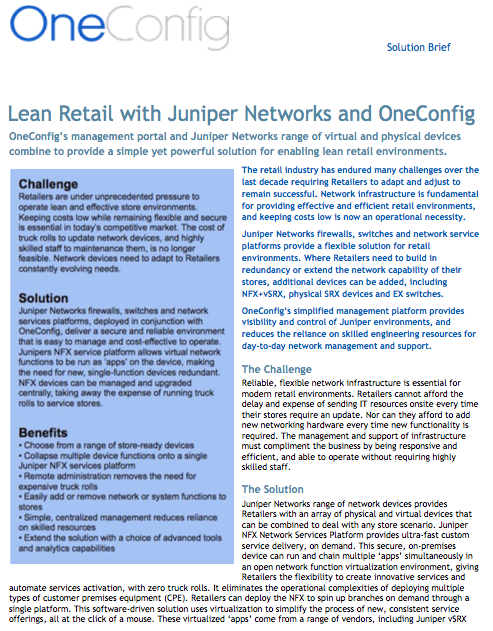 Click to download Lean Retail Solution Brief