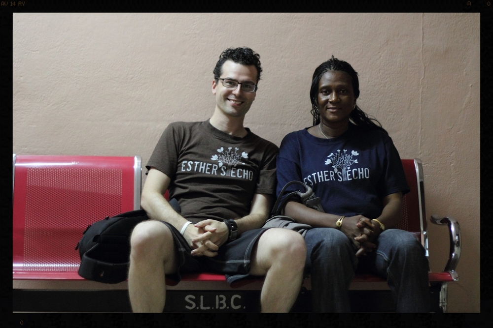 Founder Matthew Cimone with Esther Kanu in Sierra Leone