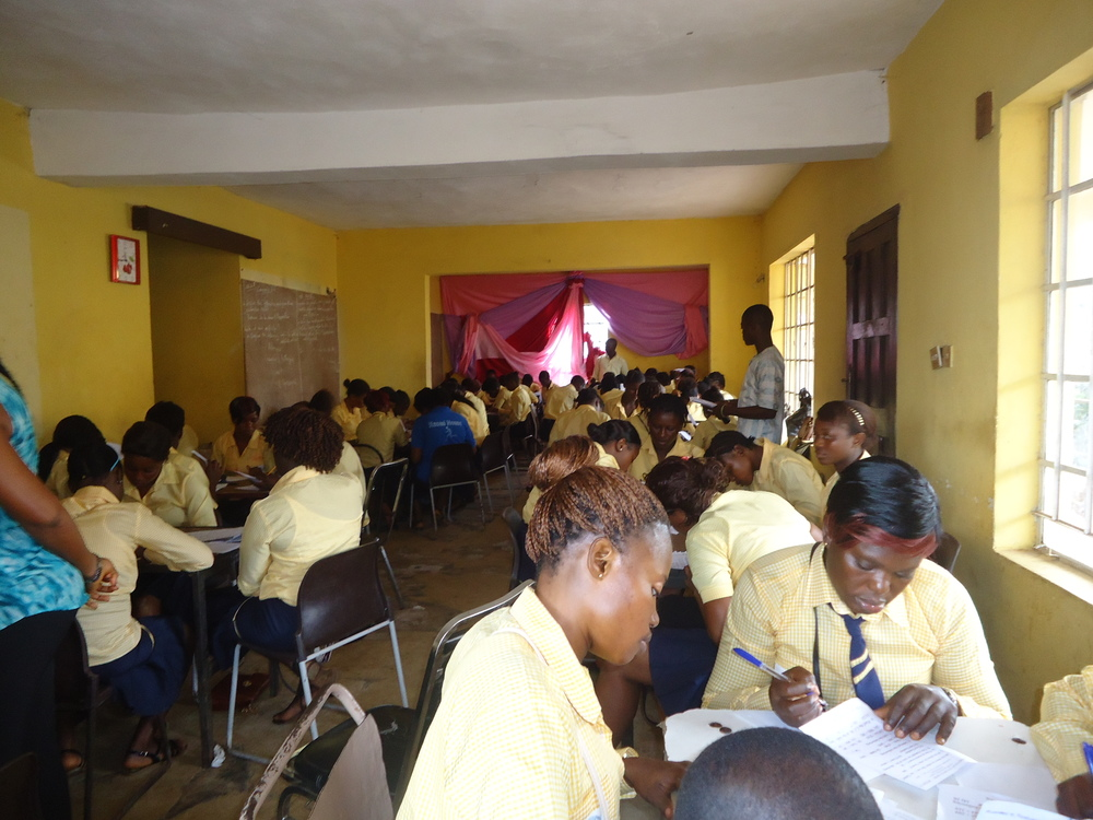 Students in class at the Women in Action Development Project