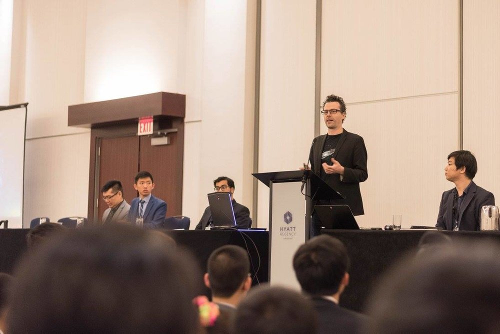 Matthew presenting at the Connect MUN Conference at the Hyatt Regency in Vancouver