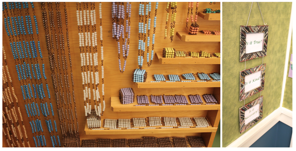 Observe: Montessori materials and values displayed in a classroom