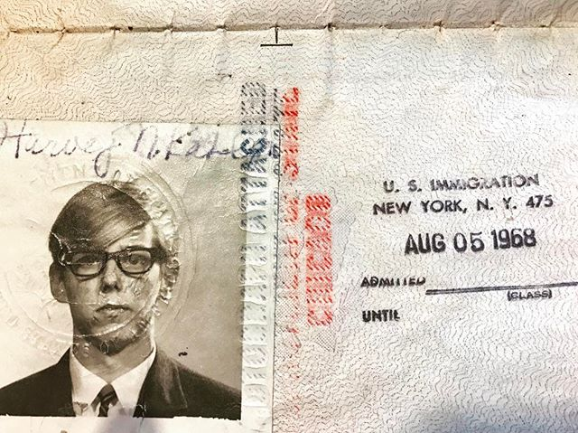 Oh hey, Harv. . My dad's first passport picture before representing Detroit during a college choral and piano tour of Europe.