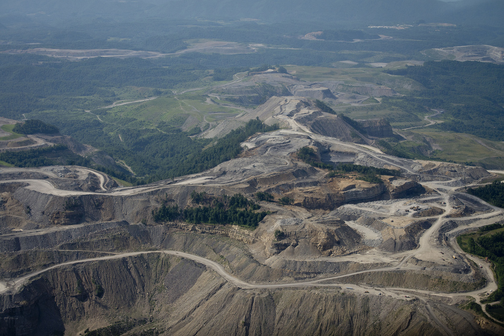 Mountaintop removal mine, KY