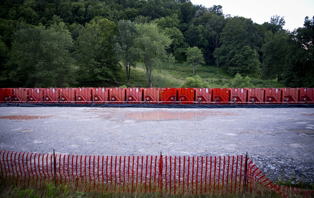 Frack tanks, New Milton, WV