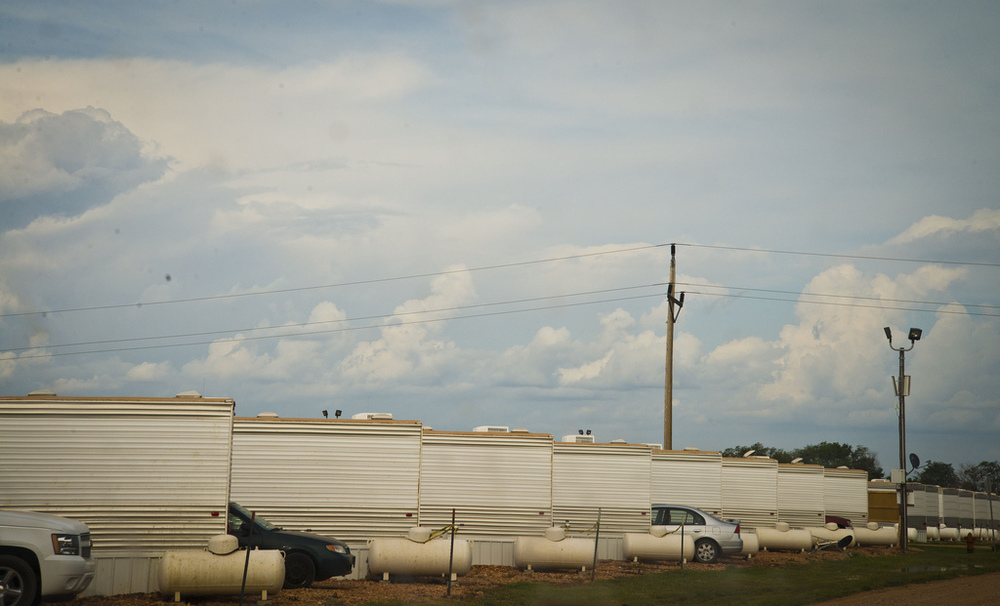 """Man camp"" worker housing, Bakken Shale ND"
