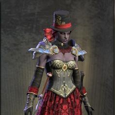 Crimson Gothic Hat
