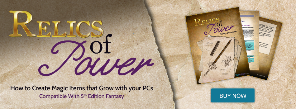 Learn more about the relic magic items wielded by the PCs in Lex's latest D&D supplement!