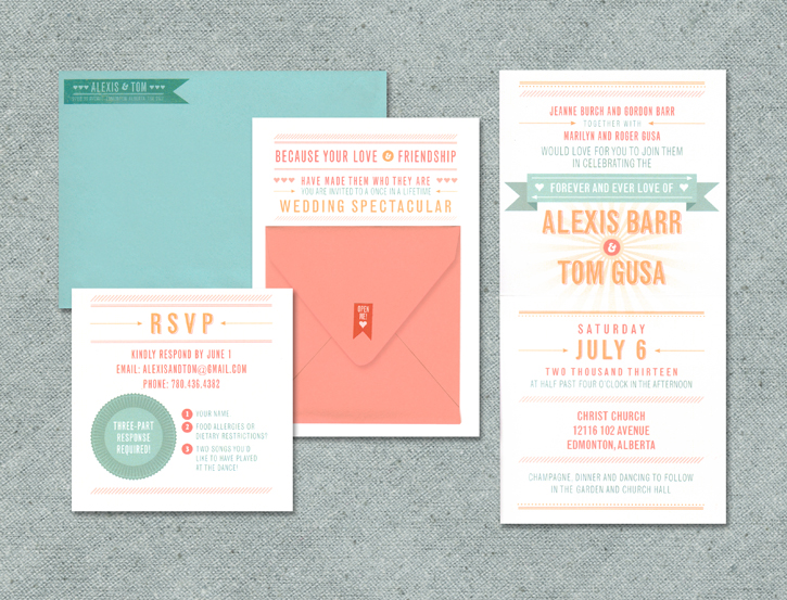 Whimsical pinkpolka wedding invitations stationery edmonton portfolio solutioingenieria Gallery