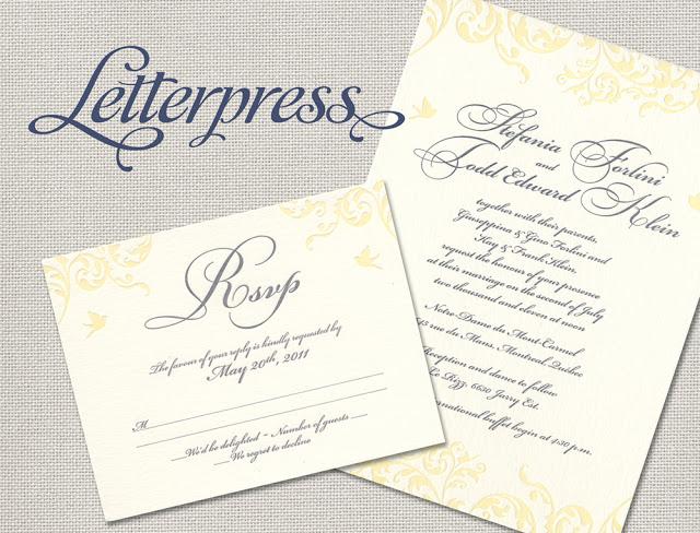 Edmonton Wedding Invitations: Introducing Letterpress Invitations!