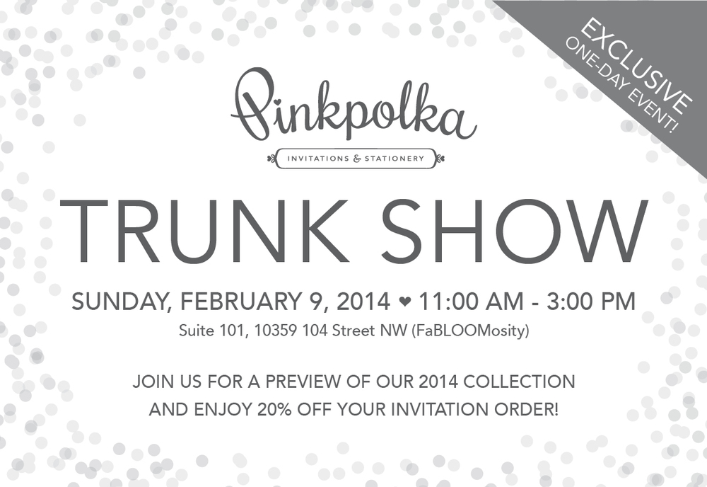 Trunk show exclusive one day savings event edmonton wedding trunk show exclusive one day savings event stopboris Image collections