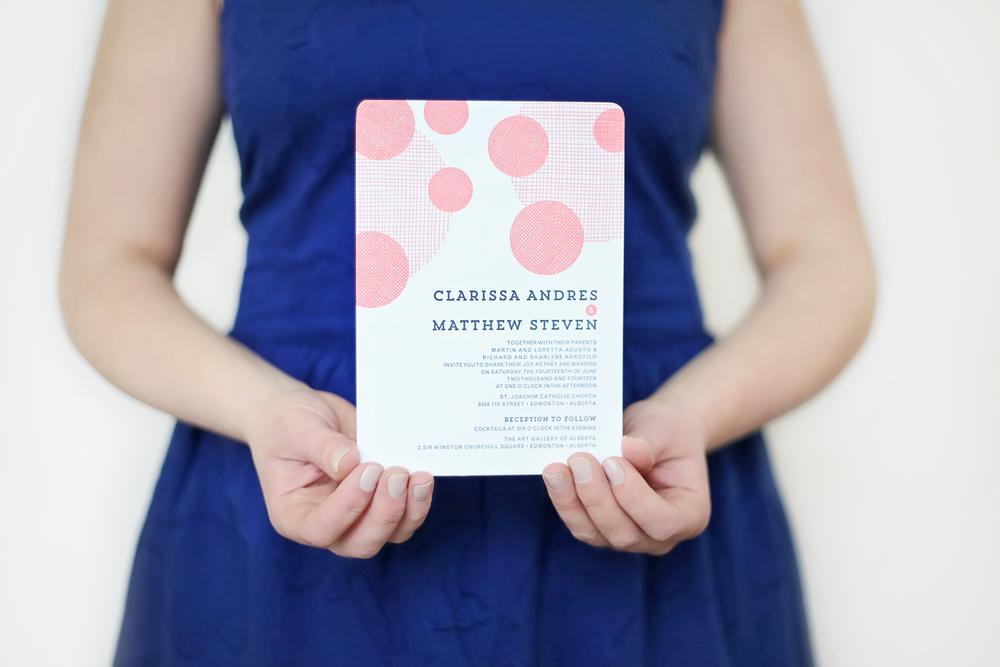 Edmonton Wedding Invitations: Edmonton Letterpress Wedding Invitations