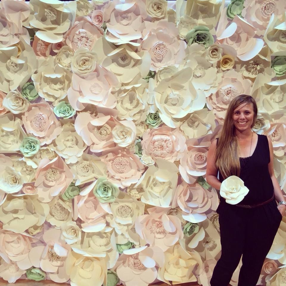 paper flower back drop edmonton