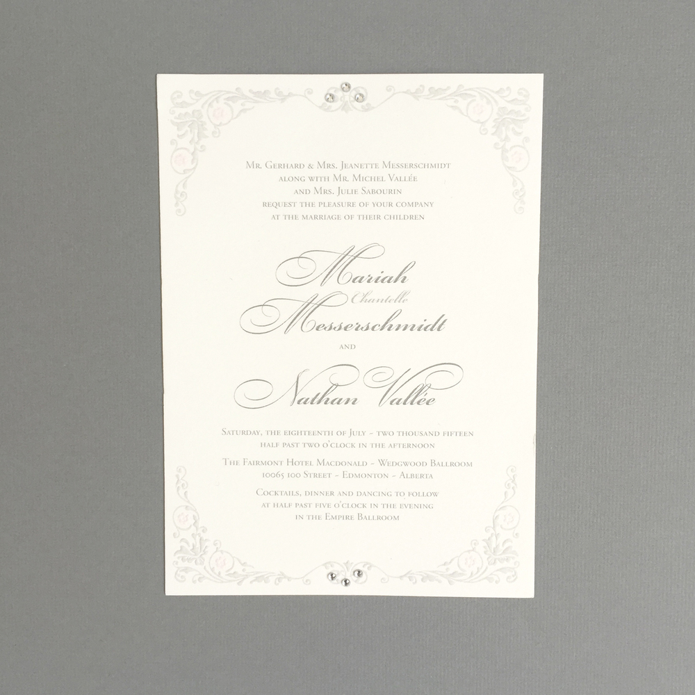 Top 10 2015 wedding invitations part 1 edmonton wedding the luxurious nature of the suite was exemplified by the addition of embossing to the decorative elements on the invitation solutioingenieria Gallery