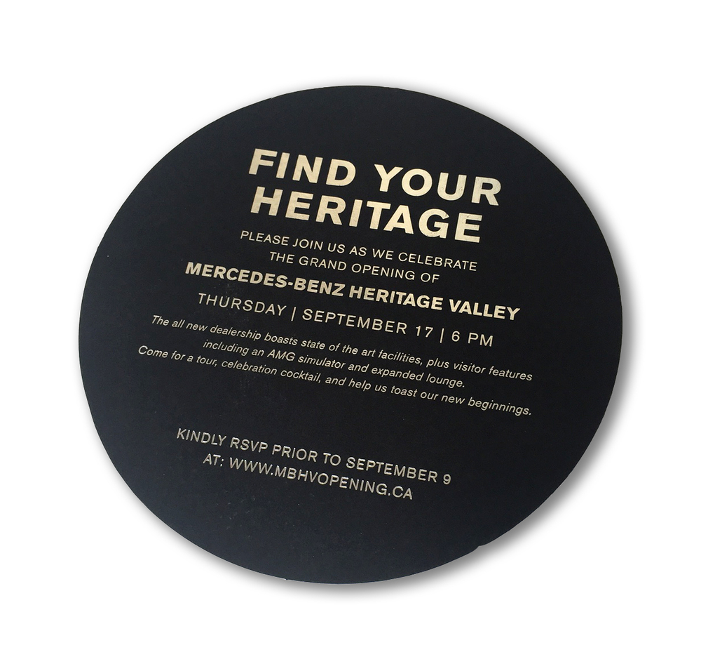 Edmonton Wedding Invitations: Featured Work :: Corporate Events :: Heritage Valley Mercedes