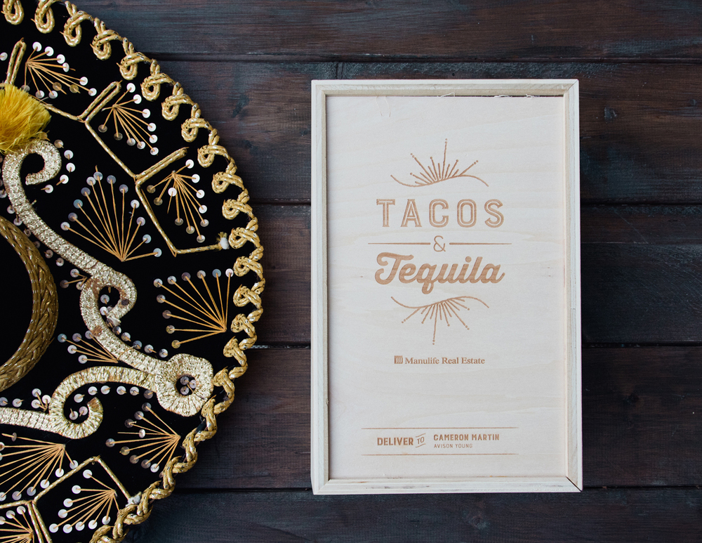 Edmonton Wedding Invitations: Featured Work :: Manulife Real Estate Tacos & Tequila