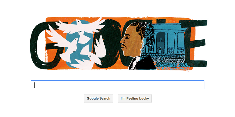 Google has some cool artwork featured on their search engine today. I'm not sure who the artist is (they seem to only credit them afterwards on their 'doodles' page).