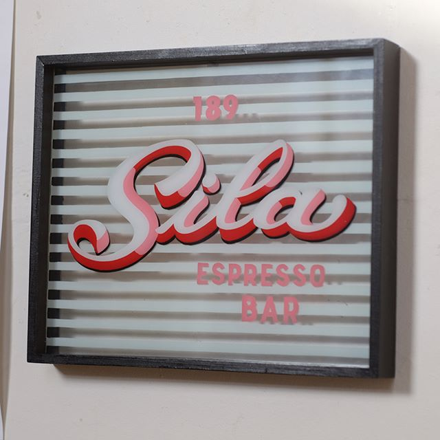 Sila Espresso Bar 🌸 Another Fitzroy classic, 189 Brunswick St. 👠 One of my personal favourites — I think I did a good job with this one, venetian blinds and all! ☕️ One more for my series of vintage handpainted Shopfronts 💒 DM if you'd like a piece or commission a shopfront! 📬 . . . . #signpainting #sign #shopfront #melbourne #art #lettering #paint #handpainted #letters #calligraphy #typography #script #brushscript #type #signs